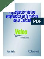 La Mejora Continua en Valeo. 2007