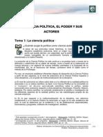 Lectura 1 - La Ciencia Política, El Poder y Sus Actores