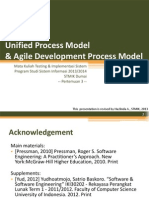Unified Process Model and Agile Development