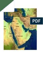 Mapa Cercano Oriente Fisico