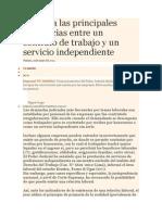 Conozca Las Principales Diferencias Entre Un Contrato de Trabajo y Un Servicio Independiente