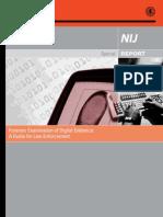 Forensic Examination of Digital Evidence