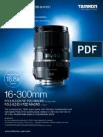 B016 16300VCPZD Catalog