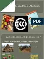 BIOLOGISCHE VOEDING powerpoint