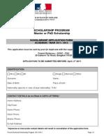 Scholarship Form 2011