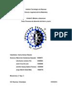 Procesos de Obtención de Hierros y Aceros