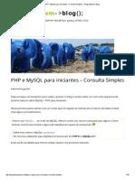 PHP e MySQL Para Iniciantes – Consulta Simples _ Thiago Belem _ Blog