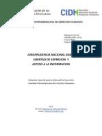 Jurisprudencia nacional sobre Acceso a la Informacion