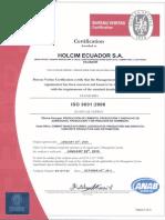 Certificados Integrado Vigentes Hasta 2015
