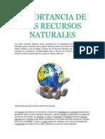 importancia de los recursos naturales