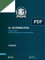 Criminalistica Plan 2014