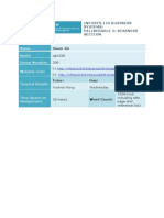 2014 S1 infosys 110 deliverable 2
