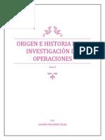 Origen e Historia de La Investigación de Operaciones
