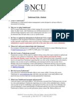 Taskstream FAQs - Students
