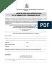 DRANZCOG Hospital Accreditation Form
