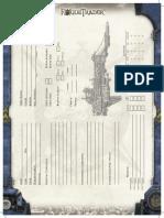 Rogue Trader - Ship Sheet
