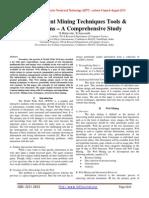 Web Content Mining Techniques Tools & Algorithms – A Comprehensive Study
