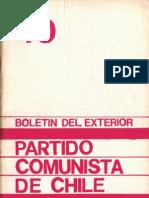 Boletín del Exterior Partido Comunista de Chile Nº40