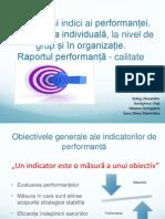 Management General - Indicatori de Performanta