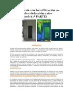 Guía Para Calcular La Infiltración en Proyectos de Calefacción y Aire Acondicionado