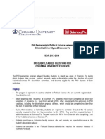PhD Program CU SP FAQ Columbia Students 2013 2014