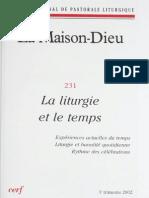 La Maison-Dieu. La Liturgie Et Le Temps_2002