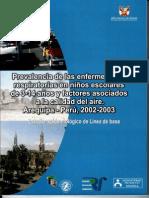 Prevalencia Enfermedades Respiratorias Arequipa