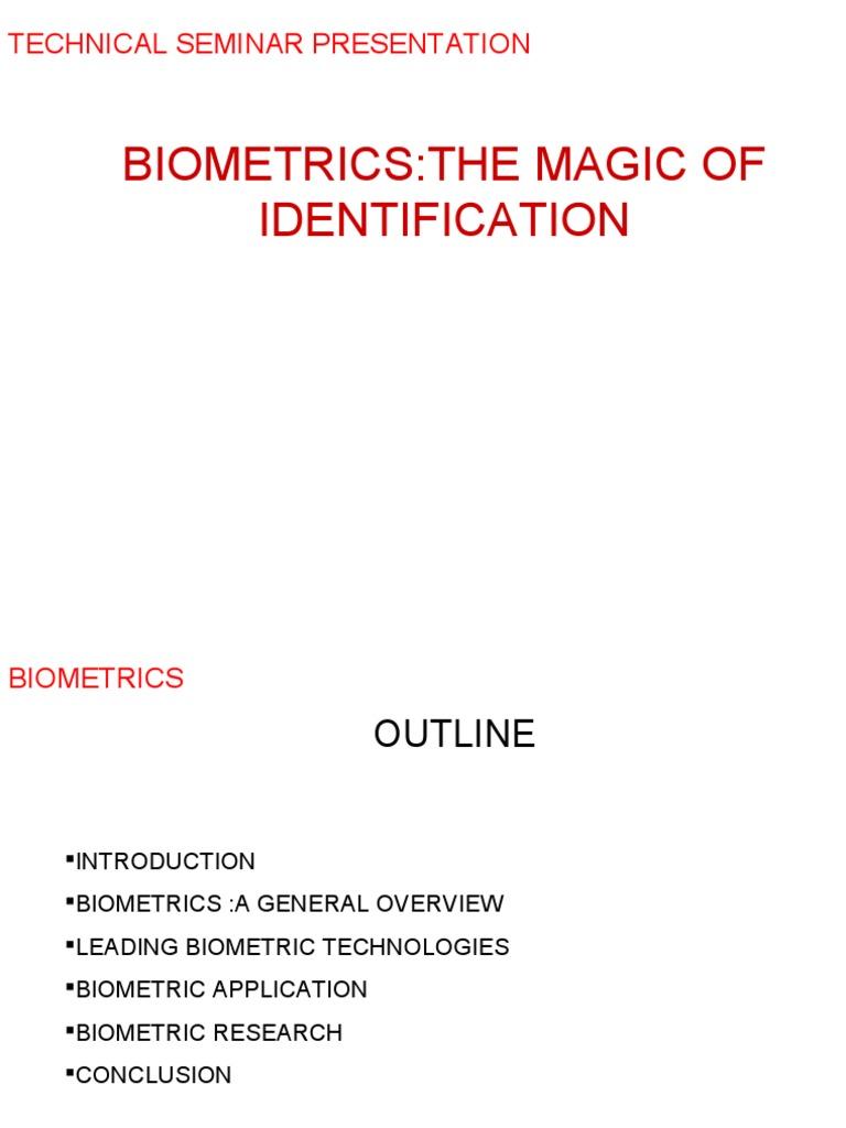 Biomatrics the Magic of Identification | Biometrics | Authentication