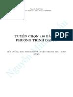 Tuyển chọn 410 hệ phương trình và các phương pháp giải hệ phương trình