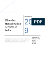 Blue Dart Transportation Services in India