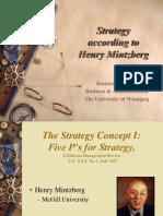 Strategy According to Henry Mintzberg