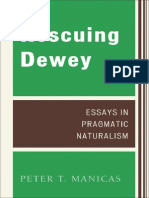 Dewey Rescuing Dewey Essays in Pragmatic Naturalism