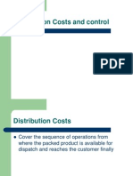 Distribution Costs and Control
