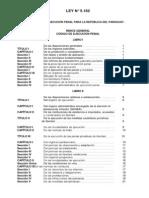 """Proyecto de Ley No 5162 """"CÓDIGO DE EJECUCIÓN PENAL PARA LA REPÚBLICA DEL PARAGUAY"""""""