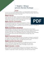 7n8d Kerala Honeymoon Package
