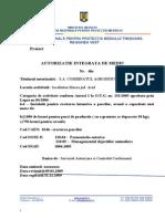 Proiect ACTUALIZARE Autorizatie CAI