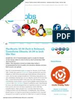 MacBuntu 14.04 Pack is Released, Transform Ubuntu 14