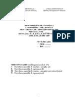 Programa Adaptata Cl a II-A