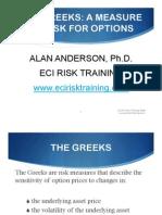 The greeks of option market
