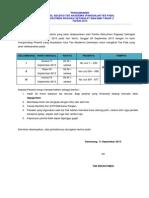 Pengumuman Hasil Tes Akademik Panggilan Tes Fisik Rekrutmen Sma Smk Tahap 2 Th 20131