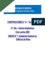 Construcciones 3 - Unidad 1 - Instalación Sanitaria