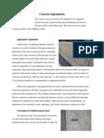 Concretr Degradation