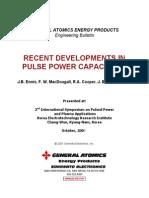 Pulse Power Capacitors