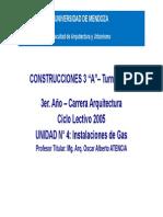 Construcciones 3 - Unidad 4 - Instalaciones de Gas