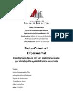 Relatório I de Físico-química II