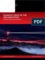 Finance s Role in the Organisation Finance Direction