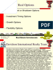 RE Inv -- Test 2, Lecture 6 -- Real Options Analysis