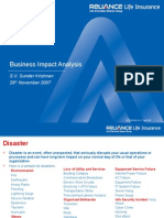 Business Impact Analysis
