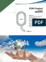Ubiquoss Datasheet u9500h Gepon Olt