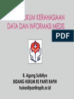 Aspek Hukum Kerahasiaan Data & Informasi Medis